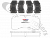 3.057.0084.00 SAF Brake Pads (Wabco) 22.5 - DS22