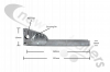 ASGK990/560AGV Side Rail / Guard Hinged Leg - Pre-Assembled With Pin & Wire Assembly 560/595mm Overall Length