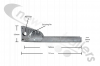 ASGK990/760AGV Side Rail / Guard Hinged Leg - Pre-Assembled With Pin & Wire Assembly 760/795mm Overall Length