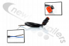 6401047 Cargo Floor New Connection Wiring Loom & Orange Two Pin Plug For Solenoid - Open Wires