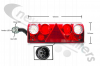 25-6020-757 Aspoeck Tail Lamp EUROPOINT II LED - L/H Lamp With 7 Pin Connector Plug & LED Outline Marker