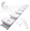 4103010  Cargo Floor Plastic Bearing Block White, 7-112 Revision Set QTY 120 Strips Full Trailer Set (840)