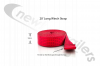 20' Long winch strap Dawbarn Ratchet Drive Front Strap For Clearspan Winch System - Red Strap Only