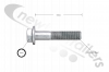 N 000 000 005 729 DCA Shock Absorber Bottom Bolt M20x1.5x100 For TE4 & TE5 Axles