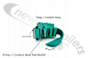 GREEN-3.0-D1.5 Dawbarn Cover Sheet Side Strap With D Eyelet 1.5m Down Green 3m