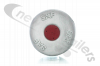 4.304.0086.01 SAF Hub Cap Silver with Red Centre