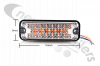 3812 Strobe Light Led Amber 12/24v Surface Mount