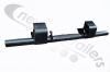 "50SWF-000087-49 TITAN Bumper or Under Run Bar, Steel Offset, Push, AWF 14.25"" 94 W with mesh and tow hooks"