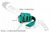 GREEN-3.0-D1.2 Cover Sheet Side Strap With D Eyelet 1.2Mts Down In Green LG:3Mts