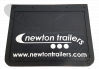 500 x 400mm Rubber Raised Newton Mudflap 500 x 400mm Plain Black Rubber Flap With Raised White Newton Trailers Logo