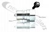 "2040000088 Hydraulic Coupling Quick Release 1"" Male A Series ISO With 1"" BSP Female Fitting"