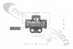 434 2080 290 M22 Shuttle Valve Or Double Check Valve