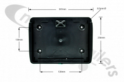 15-5398-507 Aspoeck Number Plate Holder
