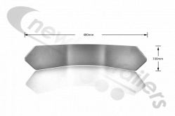 BALST10020 Knapen Top Rail Front Inner Corner Profile For Trailers With Moving Headboard