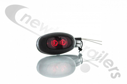 851/02/04 Rubbolite Rear Marker Lamp - Red LED With Flylead