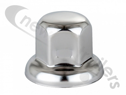 Cvaa9105 Wheel Nut Cover - Chrome plastic nut cover - Universal