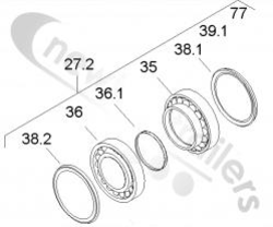 03434302000 SAF Hub Assembly Unit  B9 - Repair Kit Wheel Bearing