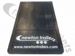 910 x 555mm Rubber Newton Ram Cover Flap With Newton Trailers Logo 555 x 915mm