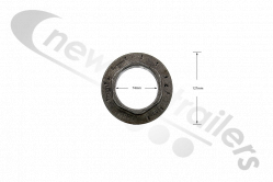 1.011.0085.00 SAF Hub Nut M75 Left hand for B9 & Bi9 & S9 Axle (Axle nut left)
