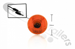 TL44123Y Rubbolite TL44 Indicator Signal Lamp for Titan Trailers