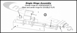 4313 Middle & Rear Hinge Assembly for Donovan Shurco Doubleflip Net Sytem