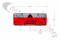 25-7000-747 Aspoeck Tail Lamp Europoint III (3) (Full LED Version)- L/H With ASS2.1 - 6 Pin Connector