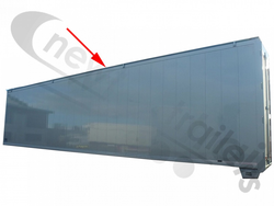 BALPR00021 Top Rail Profile For Trailers With Moving Headboard UK Nearside Or Left-Hand L=13468 mm